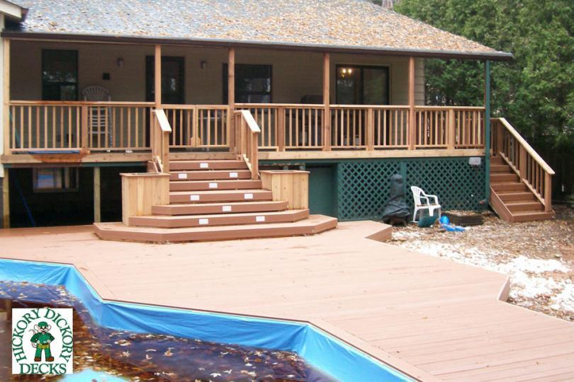 Onground diy deck plans for Pool deck design plans