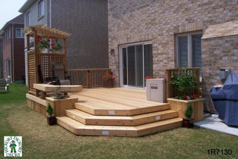 Privacy screen diy deck plans for Privacy planters for decks