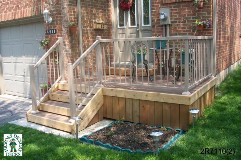 2 level diy deck plans for Front porch deck designs