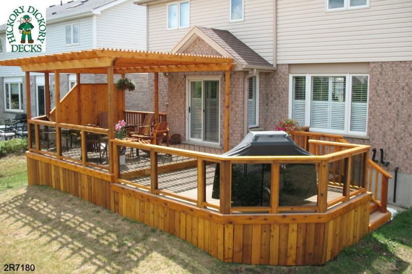 Woodwork deck with pergola designs pdf plans Wood deck designs free
