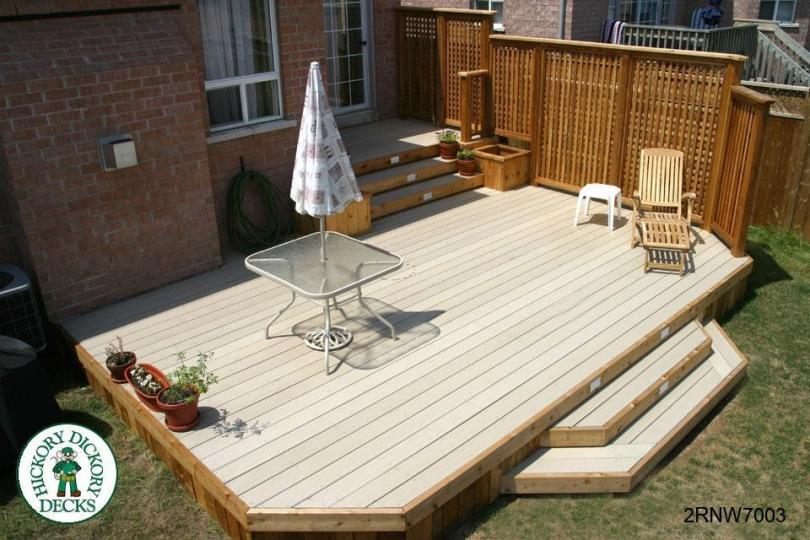 Large Two Level Deck With Planters 2rnw7003