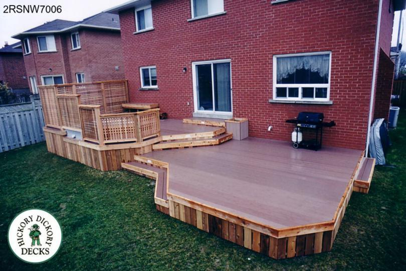... Two Level Spa Deck With Privacy Screen And A Planter Box (#2RSNW7006