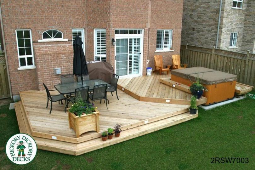 spa diy deck plans