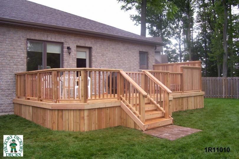 Privacy screen diy deck plans for Simple deck privacy screen