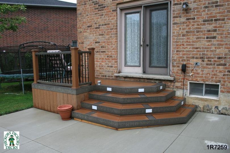 Small Mid Height Single Level Deck