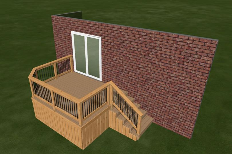 Small Deck Ideas Part - 35: Small, Mid-height, Single Level Deck Design.